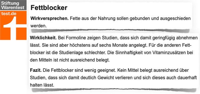 Formoline L112 Stiftung Warentest Bewertung Kritik Test 2019