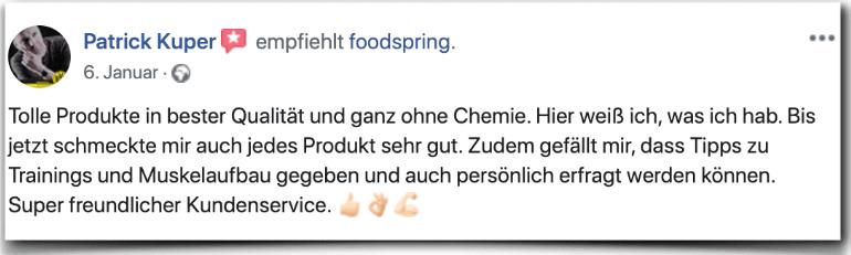 Foodspring Bewertung Erfahrungen Erfahrungsbericht