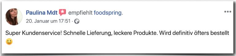 Foodspring Erfahrung Erfahrungen Erfahrungsbericht