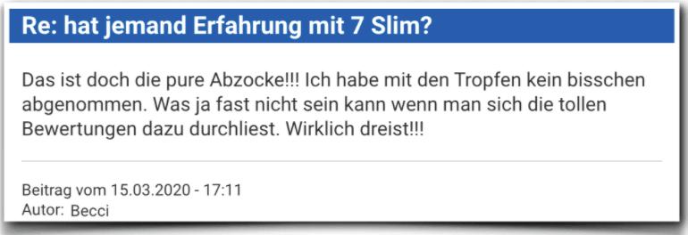 7 Slim Erfahrungsbericht Bewertung Kritik 7 Slim