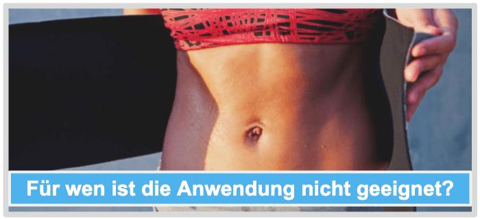 Bauchweggürtel Anwendung