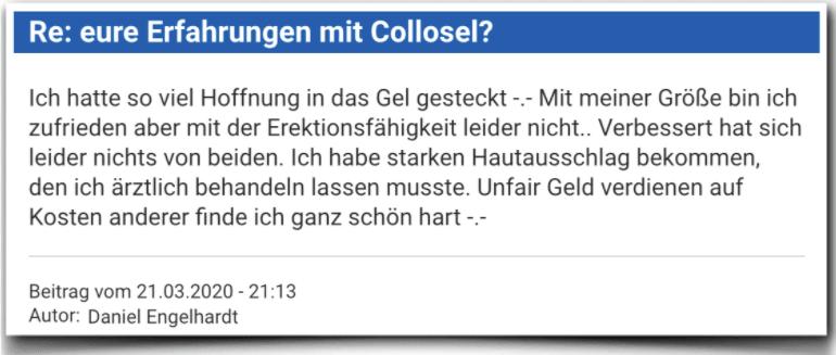 Collosel Erfahrungsbericht Bewertung Kritik Collosel