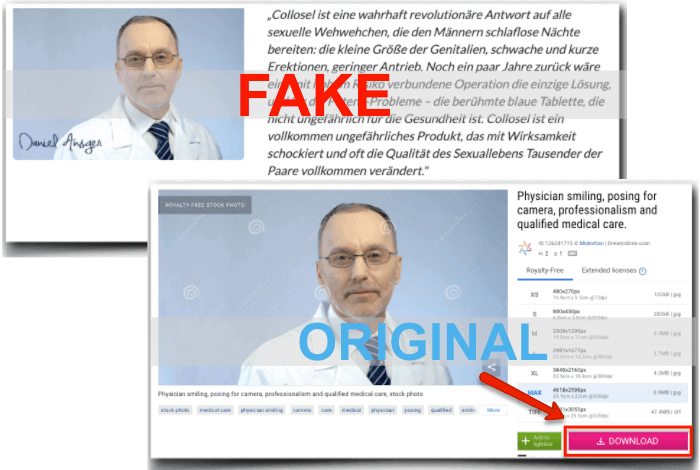 Collosel Fake Experte