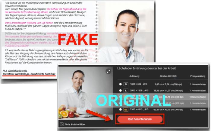 Dietonus Fake Expertin