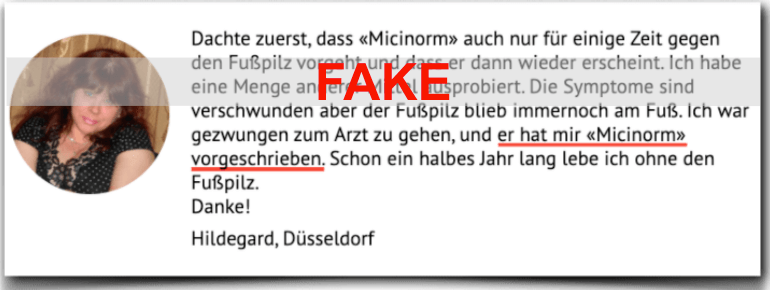 Micinorm Erfahrung Fake
