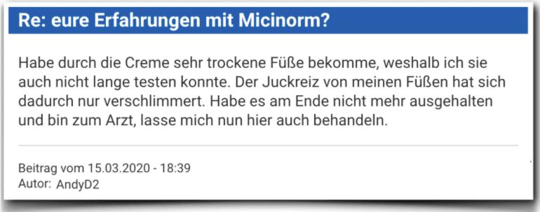 Micinorm Erfahrungsberichte Bewertung Kritik Micinorm