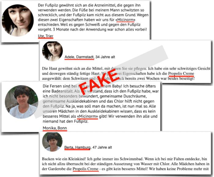 Micinorm Fake Erfahrungsberichte