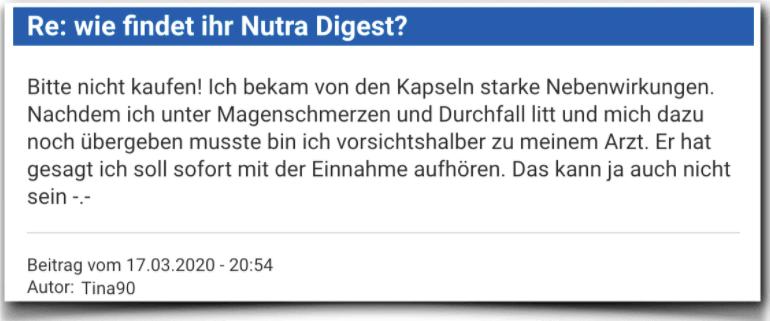 Nutra Digest Erfahrungsbericht Bewertung Kritik Nutra Digest