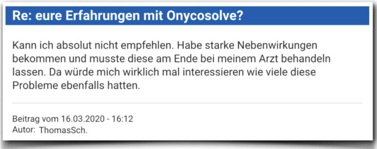 Onycosolve Erfahrungsbericht Bewertung Kritik Onycosolve