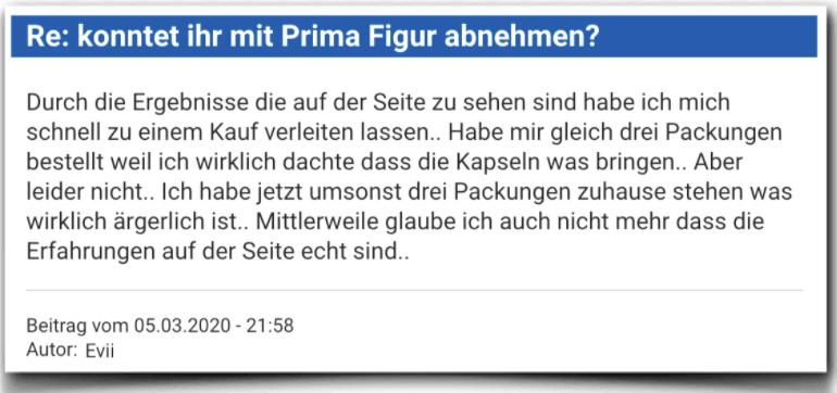 Prima Figur Erfahrungsbericht Bewertung Kritik Prima Figur