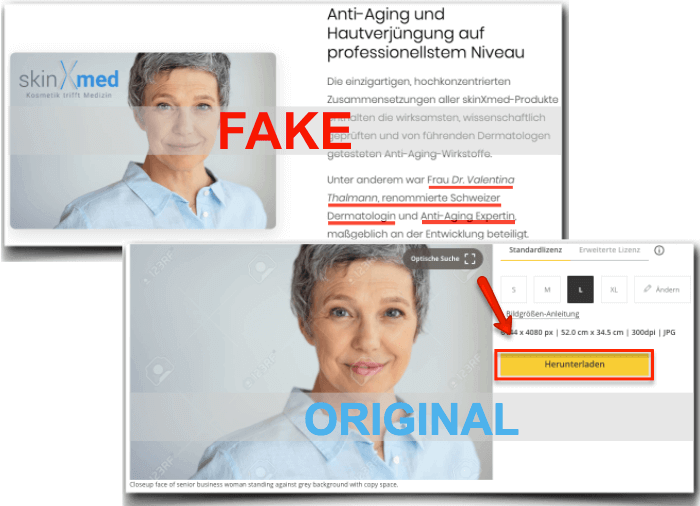 skinXmed Fake Expertin