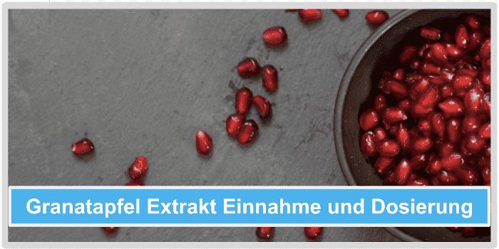 Granatapfel Extrakt Einnahme und Dosierung Abbild