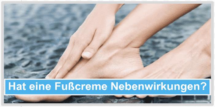Hat eine Fußcreme Nebenwirkungen? Abbild