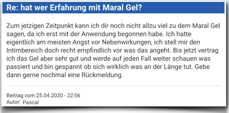 Maral Gel Erfahrungsbericht Bewertung Kritik Maral Gel