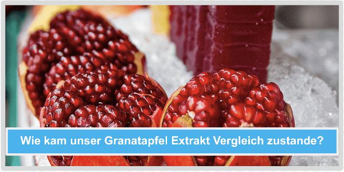 Wie kam unser Granatapfel Extrakt Vergleich zu stande Abbild