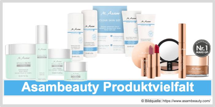 Asambeauty Produktvielfalt