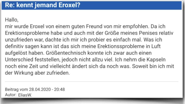 Eroxel Bewertung Erfahrungsbericht Kritik Eroxel