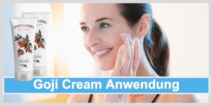 Goji Cream Anwendung