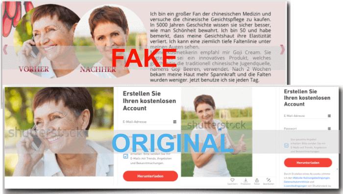 Goji Cream Fake Erfahrungsberichte