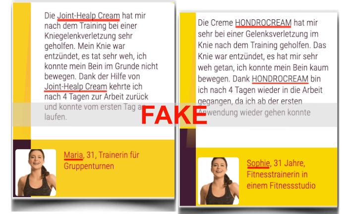 Hondrocream Erfahrungsbericht Fake