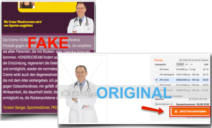 Hondrocream Fake Arzt