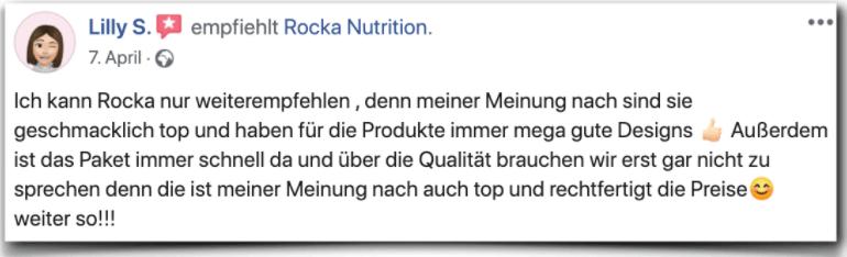 Rocka Nutrition Erfahrung Erfahrungen Erfahrungsbericht