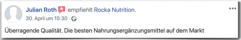Rocka Nutrition Erfahrungsbericht Bewertung Kritik Rocka Nutrition