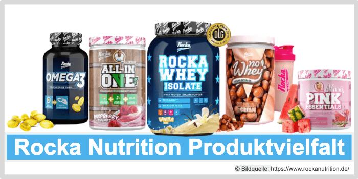 Rocka Nutrition Produktvielfalt