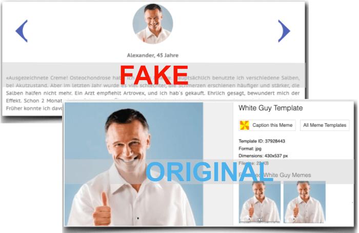 Artrovex Fake Erfahrungsberichte