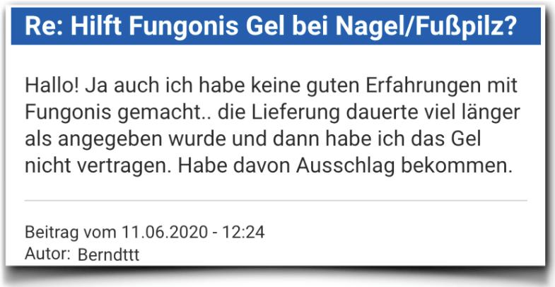 Fungonis Gel Bewertung Erfahrungsbericht Fungonis Gel
