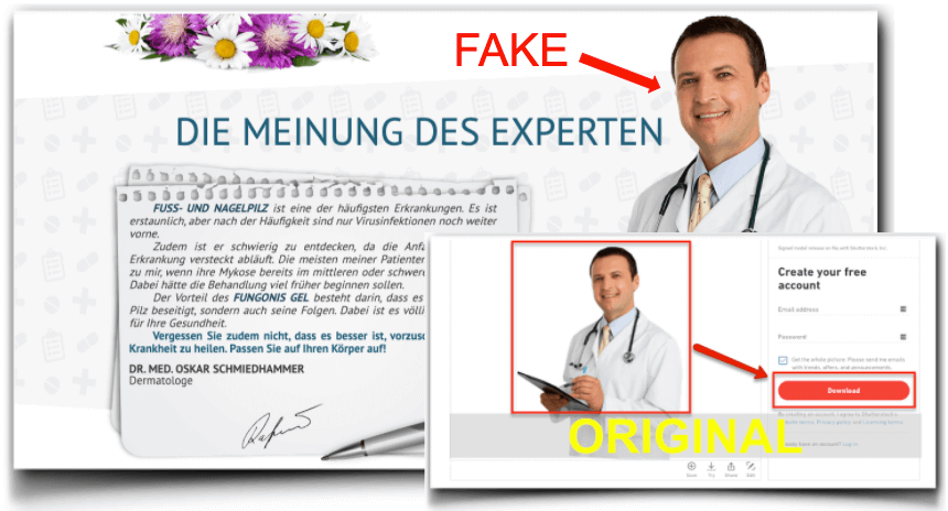 Fungonis Gel Fake Experte