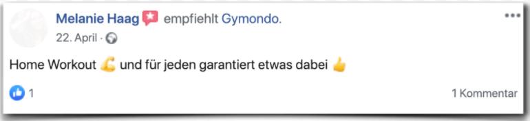 Gymondo Erfahrung Bewertung Erfahrunsbericht