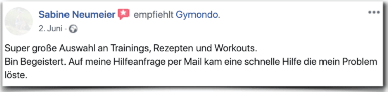 Gymondo Kritik Bewertung