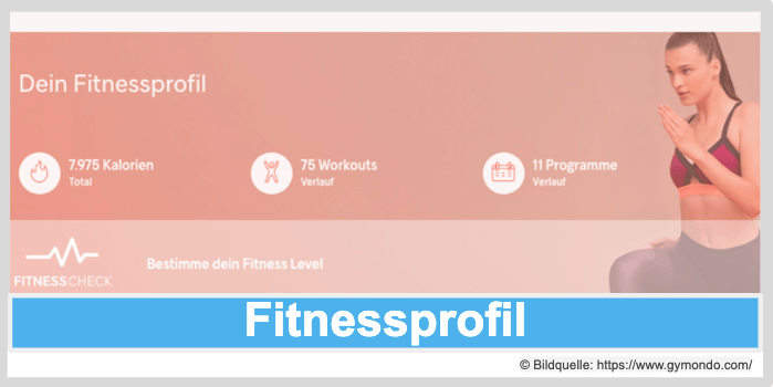 Gymondo Programme Leistungen Fitnessprofil