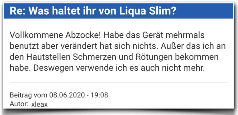 Liqua Slim Bewertung Erfahrungsbericht Liqua Slim