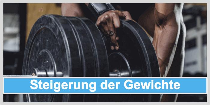 Muskeln aufbauen durch Steigerung der Gewichte