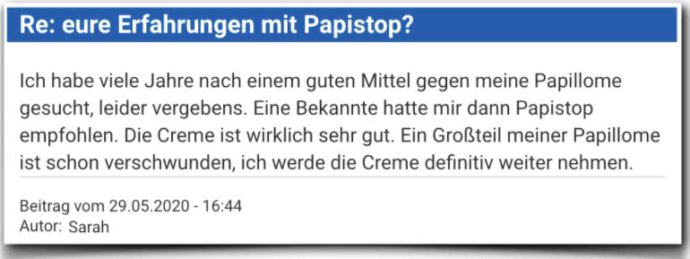Papistop Erfahrungsbericht Bewertung Kritik Papistop