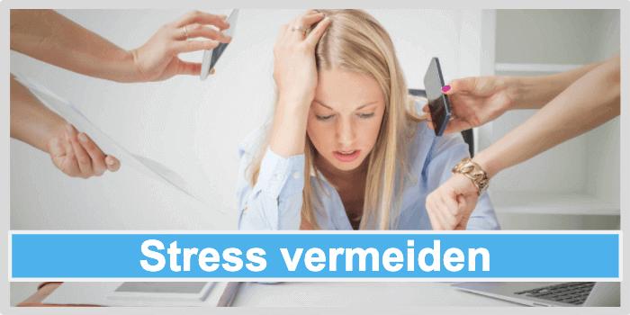 Pickel loswerden Stress vermeiden