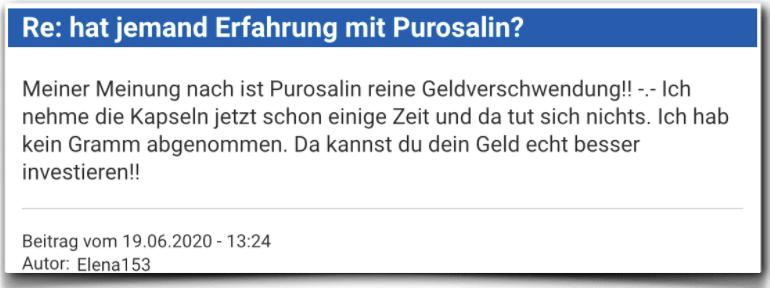 Purosalin Erfahrungsbericht Bewertung Kritik Purosalin
