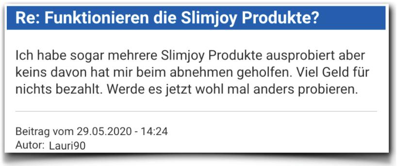 Slimjoy Bewertung Erfahrungsbericht Slimjoy