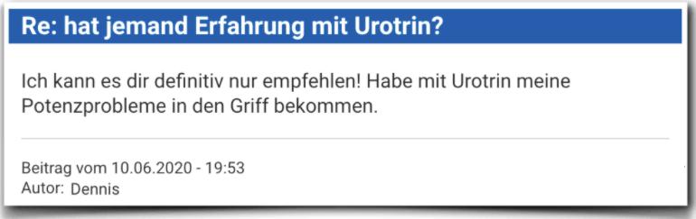 Urotrin Erfahrungsbericht Bewertung Kritik Urotrin