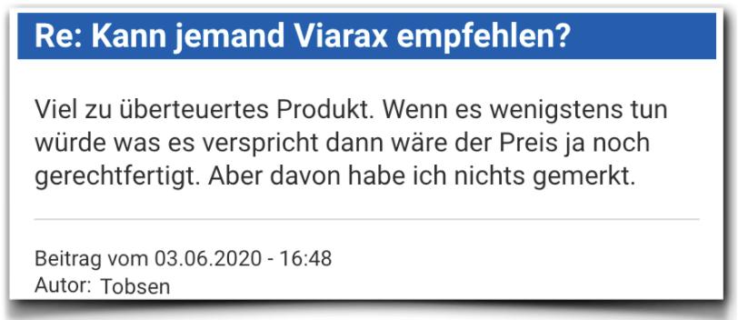 Viarax Bewertungen Erfahrungen Viarax