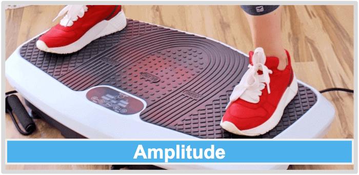 Vibrationsplatte Amplitude