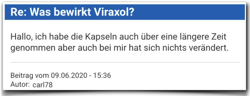 Viraxol Bewertung Erfahrungsbericht Viraxol