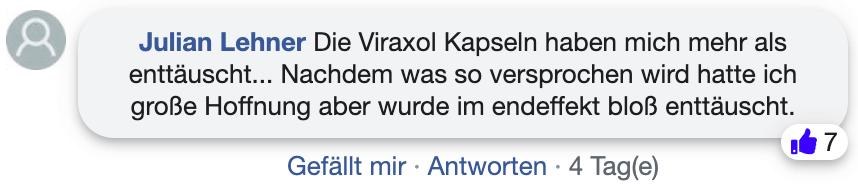 Viraxol Erfahrungsberichte Kritik Facebook