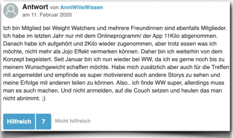 Weight Watchers Erfahrung Bewertung