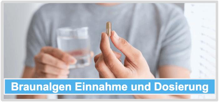 Braunalgen Einnahme Dosierung Anwendung