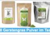 Gerstengras Pulver Test