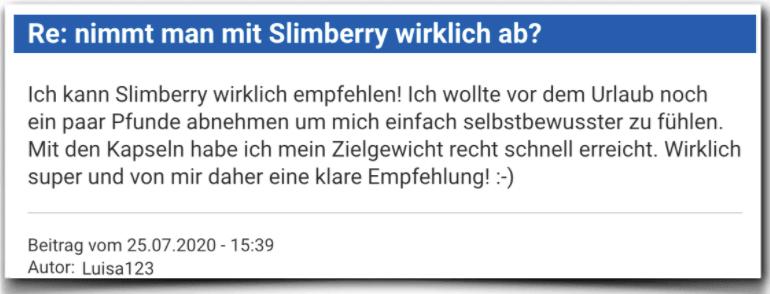 Slimberry Erfahrungen Erfahrungsbericht Bewertung Slimberry