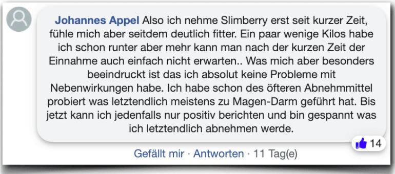 Slimberry Erfahrungsbericht Kritik Bewertung